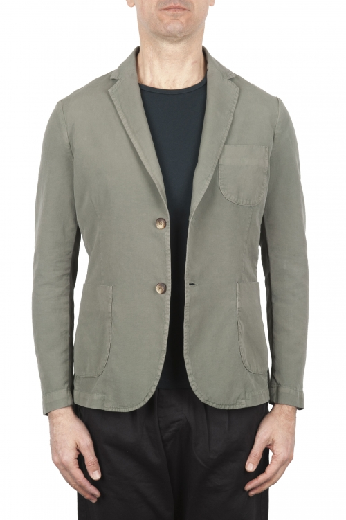 SBU 01729_2020SS Green cotton sport jacket unconstructed and unlined 01
