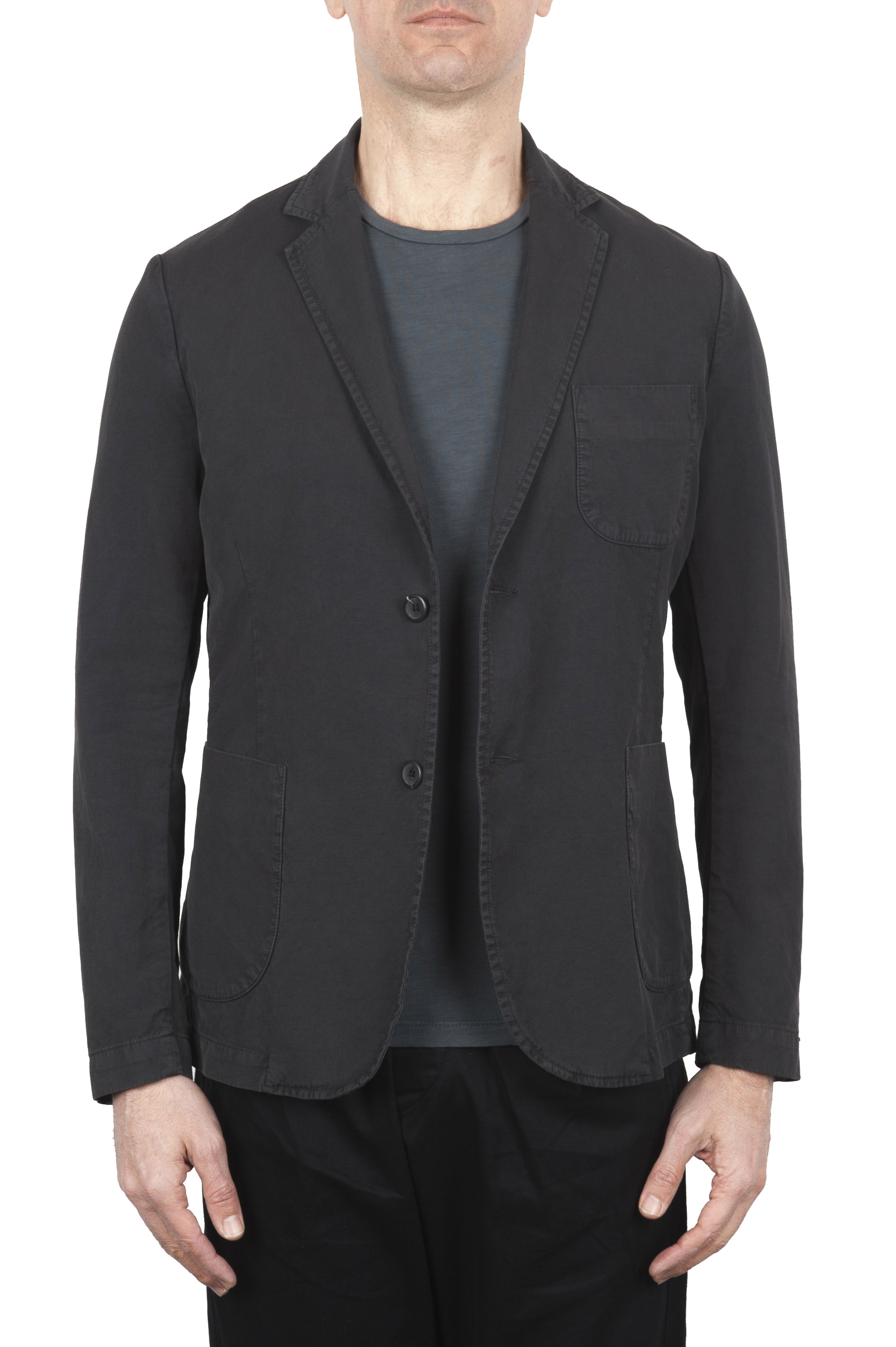 SBU 01730_2020SS Dark grey cotton sport jacket unconstructed and unlined 01