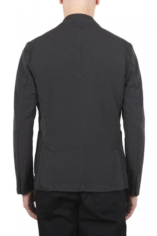SBU 01730_2020SS Chaqueta deportiva de algodón gris oscuro sin forro 01