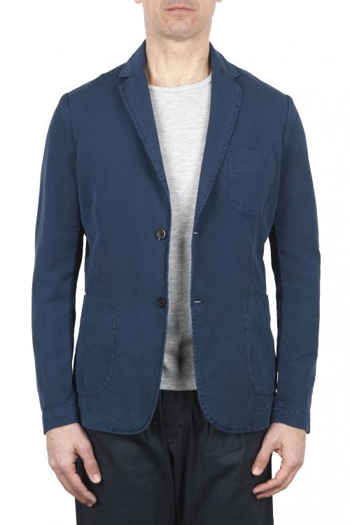 SBU 01731_2020SS Chaqueta deportiva de algodón azul sin forro 01