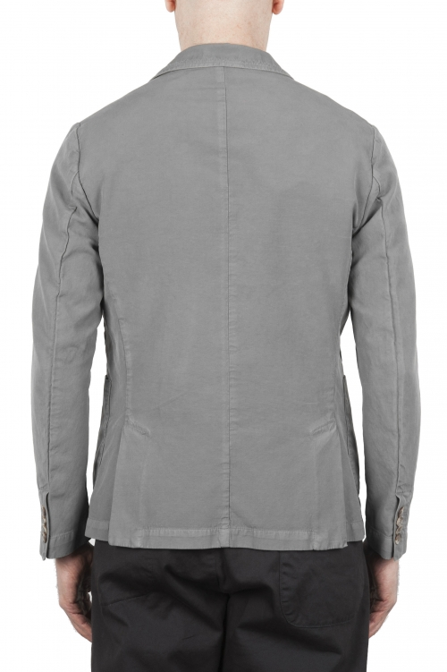 SBU 01732_2020SS Light grey cotton sport jacket unconstructed and unlined 01