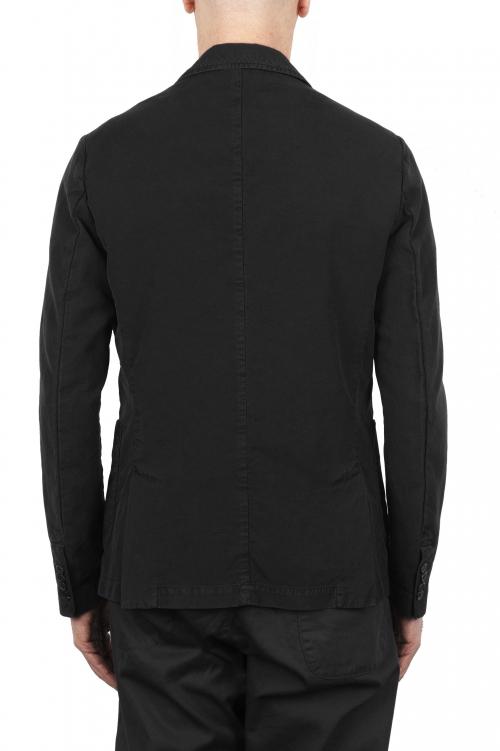 SBU 01733_2020SS Chaqueta deportiva de algodón negro sin forro 01