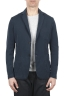 SBU 01734_2020SS Navy blue cotton sport jacket unconstructed and unlined 01