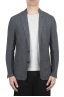 SBU 01776_2020SS Single breasted unconstructed grey linen blazer 01