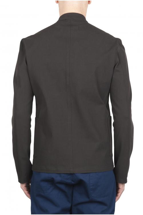 SBU 01725_2020SS Mandarin collar sartorial work jacket brown 01