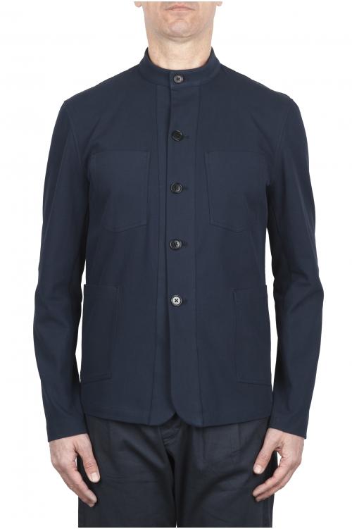 SBU 01727_2020SS Mandarin collar sartorial work jacket navy blue 01