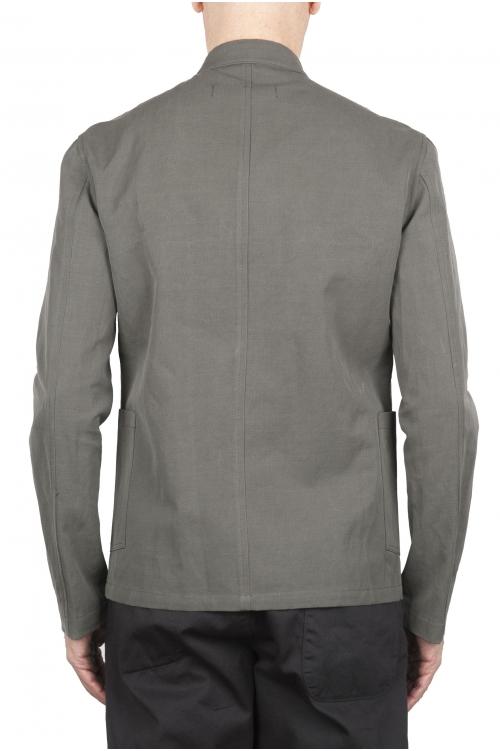 SBU 01728_2020SS Mandarin collar sartorial work jacket green 01