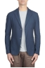 SBU 01735_2020SS Single breasted blue stretch cotton pique blazer 01