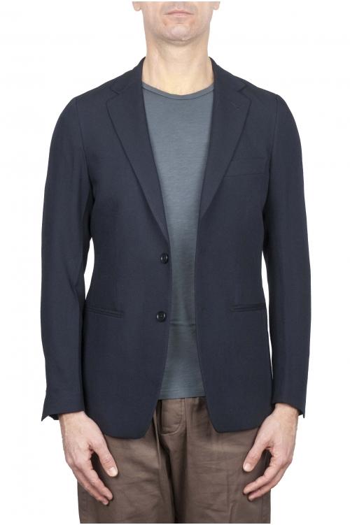 SBU 01737_2020SS Blazer de lana fresco azul de un solo pecho 01