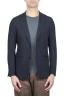 SBU 01737_2020SS Blazer en laine fraîche bleu à double boutonnage 01
