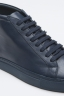 SBU - Strategic Business Unit - Classic Mid Top Sneakers In Blue Calf-Skin Leather