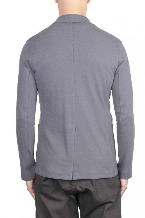 SBU 01740_2020SS Blazer en coton gris à boutonnage simple 01