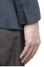 SBU 01738_2020SS Single breasted grey linen blended blazer 05