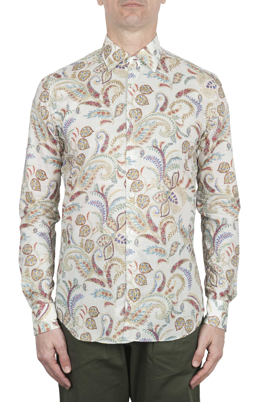 SBU 02000_2020SS Camicia fantasia in cotone bianca 01