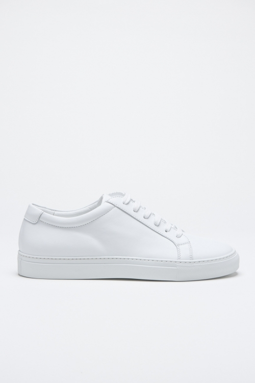 SBU - Strategic Business Unit - Classic Sneakers In White Calf-Skin Leather