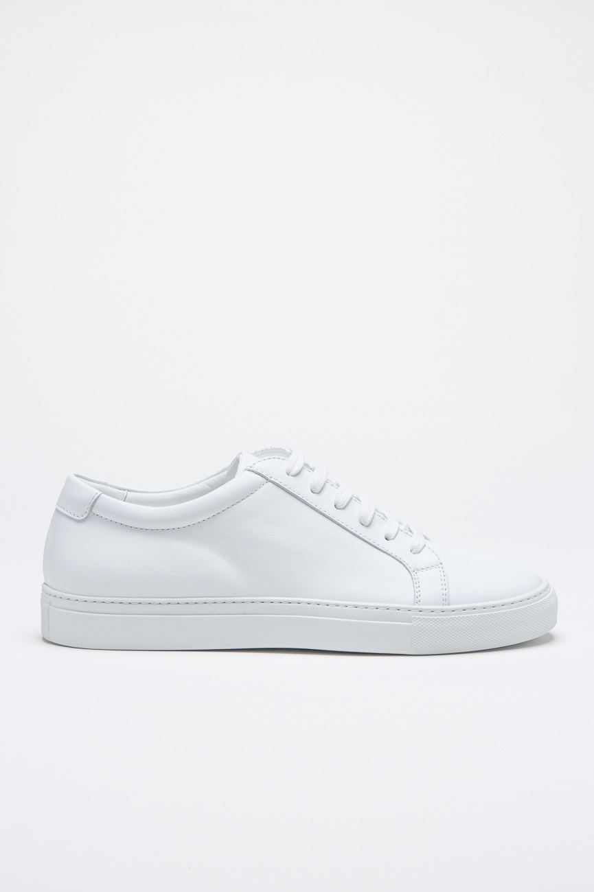Classic Sneakers In White Calf-Skin Leather