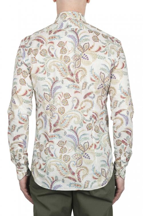 SBU 02000_2020SS 白い柄のコットンシャツ 01