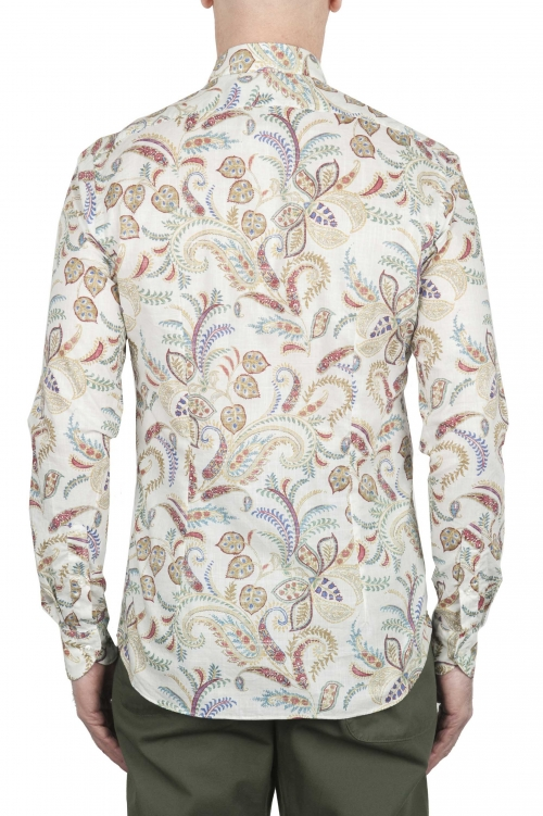 SBU 02000_2020SS White patterned cotton shirt 01