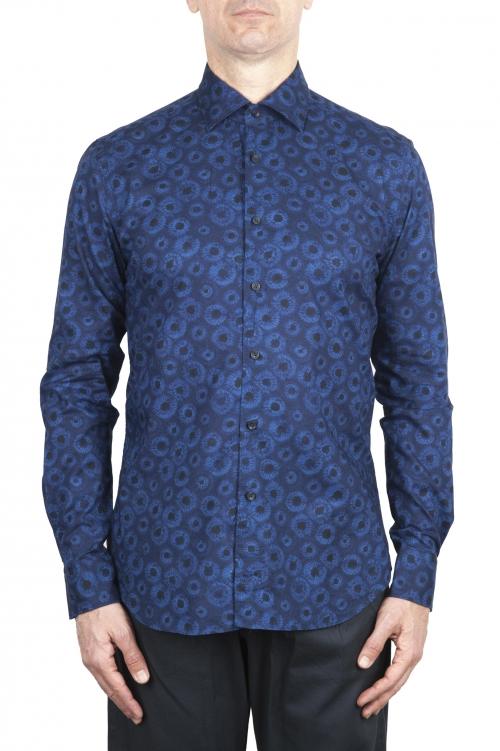 SBU 02001_2020SS ブルー柄のコットンシャツ 01