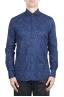 SBU 02001_2020SS Camisa azul de algodón estampada 01
