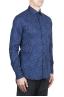 SBU 02001_2020SS Camisa azul de algodón estampada 02