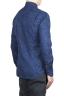 SBU 02001_2020SS Camisa azul de algodón estampada 04