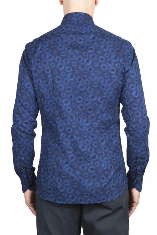 SBU 02001_2020SS Blue patterned cotton shirt 01