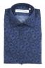 SBU 02001_2020SS Camisa azul de algodón estampada 06