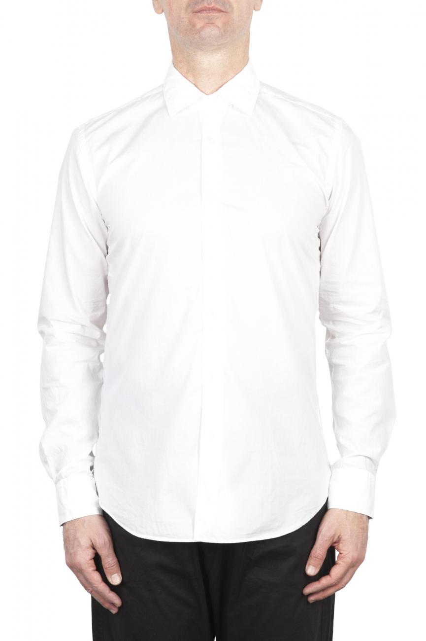 SBU 02007_2020SS Camisa super ligera de algodón blanco 01