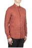SBU 02020_2020SS Camicia classica in lino rosso mattone 02
