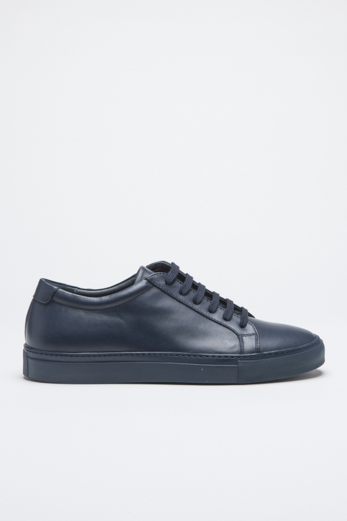 SBU - Strategic Business Unit - Classic Sneakers In Blue Calf-Skin Leather