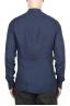 SBU 02024_2020SS Camicia classica con collo coreano in lino blu 05