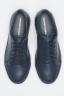 Classic Sneakers In Blue Calf-Skin Leather