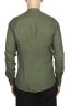 SBU 02026_2020SS Camisa clásica verde de lino de cuello mao 05