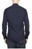 SBU 02028_2020SS Camisa clásica de algodón azul con cuello mandarín 05