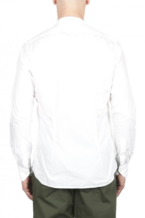 SBU 02029_2020SS Classic mandarin collar blue cotton shirt 01
