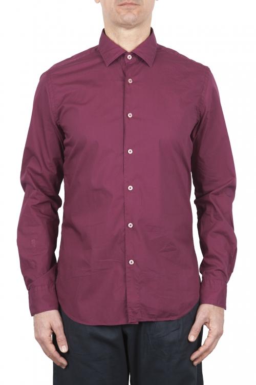 SBU 02009_2020SS Camicia in cotone super leggero rossa 01