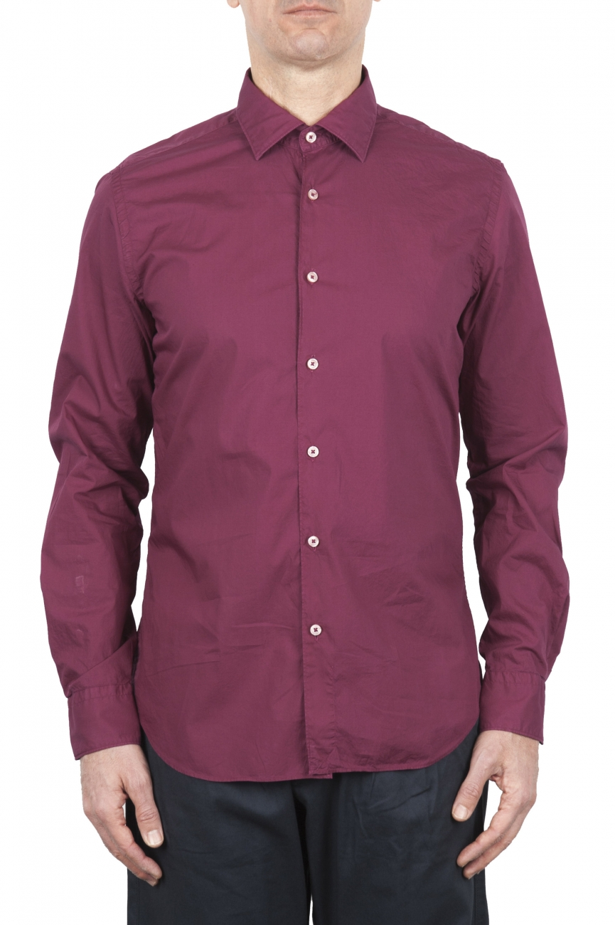 SBU 02009_2020SS Red super light cotton shirt 01