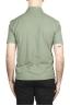 SBU 02031_2020SS Polo de crepé de algodón verde de manga corta 05