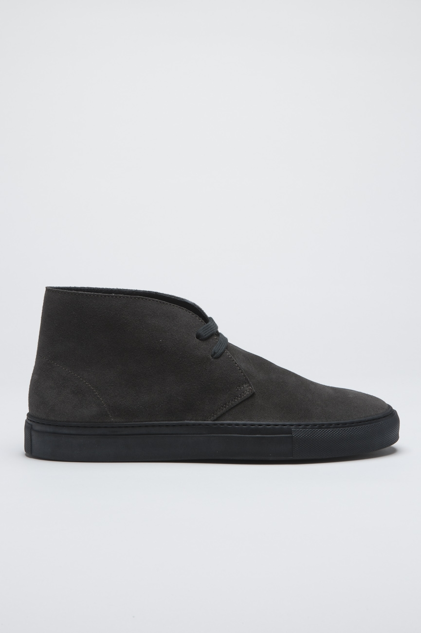 SBU - Strategic Business Unit - Original Mid Top Grey Suede Leather Chukka Boots
