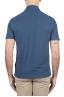 SBU 02038_2020SS Classic short sleeve blue cotton crepe polo shirt 05