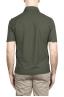 SBU 02033_2020SS Short sleeve green cotton crepe polo shirt  05