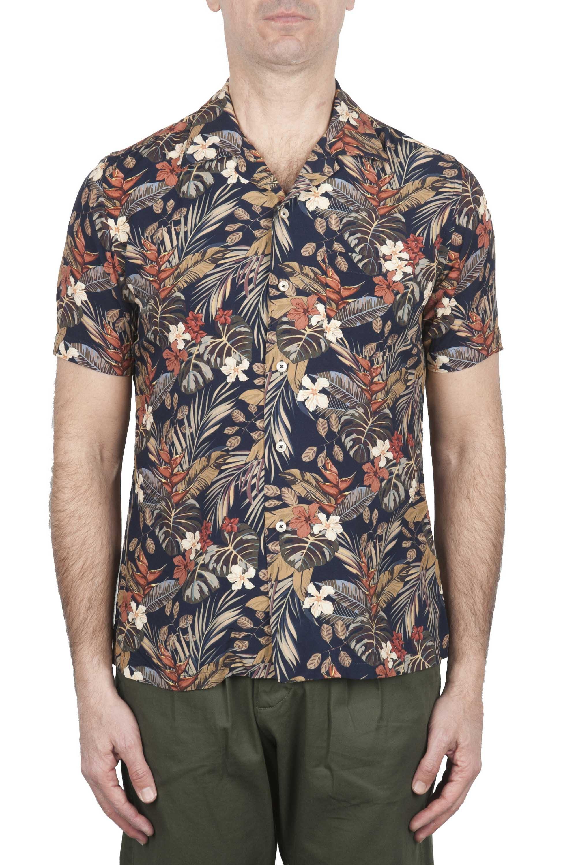 SBU 02831_2020S Hawaiian floral print black shirt 01
