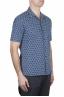 SBU 02832_2020S Hawaiian printed pattern blue cotton shirt 02