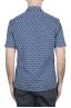 SBU 02832_2020S Hawaiian printed pattern blue cotton shirt 04