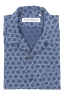 SBU 02832_2020S Hawaiian printed pattern blue cotton shirt 05