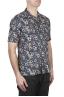 SBU 02833_2020S Camisa de algodón azul estampada hawaiana 02