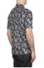 SBU 02833_2020S Camisa de algodón azul estampada hawaiana 04
