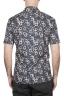 SBU 02833_2020S Camisa de algodón azul estampada hawaiana 05