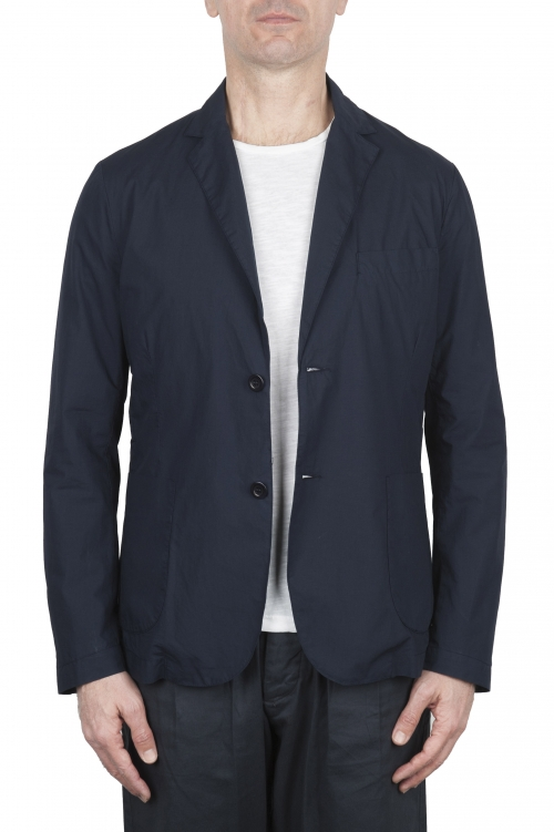 SBU 02834_2020SS Blue navy cotton sport jacket unconstructed and unlined 01